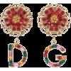 DOLCE & GABBANA Floral clip-on earrings - Brincos -