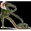 DOLCE & GABBANA  Kiera lily-appliqué met - Sandals -