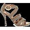 DOLCE & GABBANA Leather-trimmed sandals - Sandals -