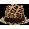 DOLCE & GABBANA  Leopard-print cotton-bl - Hat -