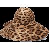 DOLCE & GABBANA  Leopard-print felt hat - Kapelusze -