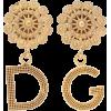 DOLCE & GABBANA Logo clip on earrings - Kolczyki -