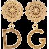 DOLCE & GABBANA Logo clip on earrings - Aretes -
