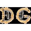 DOLCE & GABBANA Logo cuff links - Brincos -