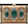 DOLCE & GABBANA METAL MARLENE CLUTCH WIT - Clutch bags -