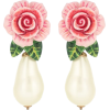 DOLCE & GABBANA Rose clip-on drop earrin - Orecchine -