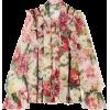 DOLCE & GABBANA Ruffled floral-print sil - Long sleeves shirts -
