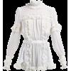 DOLCE & GABBANA  Ruffled lace-insert sil - Košulje - duge -