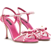 DOLCE & GABBANA  SATIN SANDALS WITH PEAR - Sandals -