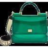 DOLCE & GABBANA Sicily Green Rubber Bag - Carteras -