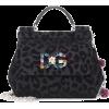 DOLCE & GABBANA Sicily Mini flocked shou - Hand bag -