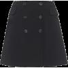 DOLCE & GABBANA Stretch-wool miniskirt - Faldas -