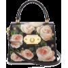 DOLCE & GABBANA  Welcome rose-printed gr - Kleine Taschen -