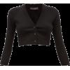 DOLCE GABBANA black cropped cardigan - Cardigan -