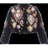 DOLCE GABBANA black embroidered jacket - Jacket - coats -