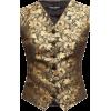 DOLCE GABBANA black & gold waistcoat - Maglie -