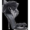 DOLCE GABBANA black tulle sandal - Sandale -