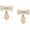 DOLCE & GABBANA bow drop clip earrings - Earrings -
