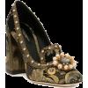 DOLCE GABBANA brown gold black shoe - Klasični čevlji -