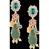 DOLCE & GABBANA cactus drop embellished - Earrings -
