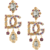 DOLCE & GABBANA crystal embellished logo - Серьги -