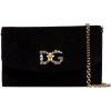 DOLCE & GABBANA crystal logo crossbody b - Carteras -