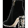 DOLCE & GABBANA embellished heel ankle b - Boots -