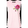DOLCE & GABBANA embroidered rose patch v - Tanks - $393.00