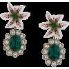 DOLCE & GABBANA floral crystal stud earr - Orecchine -