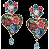 DOLCE & GABBANA floral heart earrings - イヤリング -