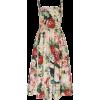 DOLCE GABBANA floral organza dress - Dresses -