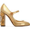 DOLCE GABBANA gold embelllished shoes - Klasične cipele -