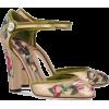 DOLCE GABBANA gold floral shoes - Classic shoes & Pumps -