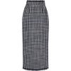 DOLCE GABBANA houndstoot wool midi skirt - Skirts -