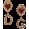 DOLCE & GABBANA logo heart earrings - Naušnice -
