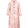 DOLCE GABBANA pink brocade coat - Jacket - coats -