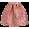 DOLCE GABBANA pink gold brocade skirt - 裙子 -