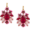 DOLCE GABBANA pink red floral earrings - Orecchine -