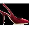 DOLCE & GABBANA red velvet shoe - Klasični čevlji -