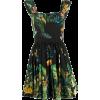 DOLCE & GABBANA tropical print flared dr - Dresses -