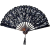 DRAGONFLY STUDIO DESIGN lace hand fan - Uncategorized -