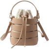 DRAWSTRING 2PC CUR-OUT BUCKET BAG (4 COL - Hand bag - $32.97