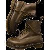 DR MARTENS dark green brown boots - Boots -