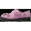 DR MARTENS mauve flowers shoe - Klasyczne buty -