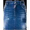 DSQUARED2 distressed mini skirt - Spudnice -