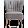 DUNELM grey velvet chair - Furniture -