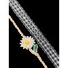 Daisy Charm Bracelet - Bransoletka -