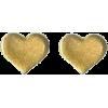 Gold heart earrings - Orecchine -