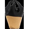 Danse Lente Large Leather And Raffia Tot - Poštarske torbe -