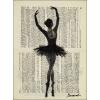 Danseuse sur journal - Illustrations -